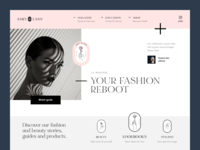 Anry & Lans Website fashion magazine beauty web ux ui startup service website interface