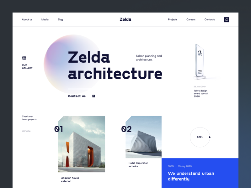 Zelda Website house home exterior design architecture conceptual modern real estate estate building web ux ui startup service website interface