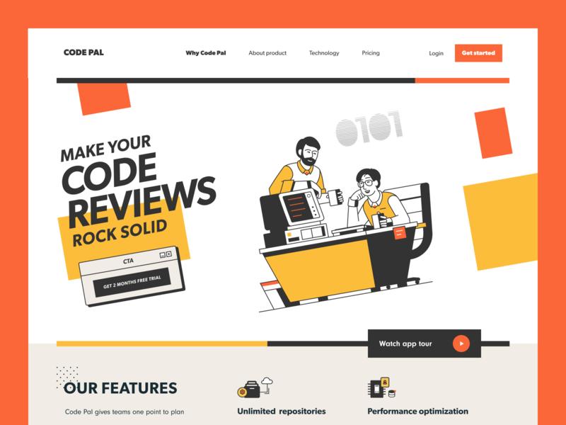Code Pal Website check code check developers data tech backend frontend programming coding code review development web ux ui startup service website interface