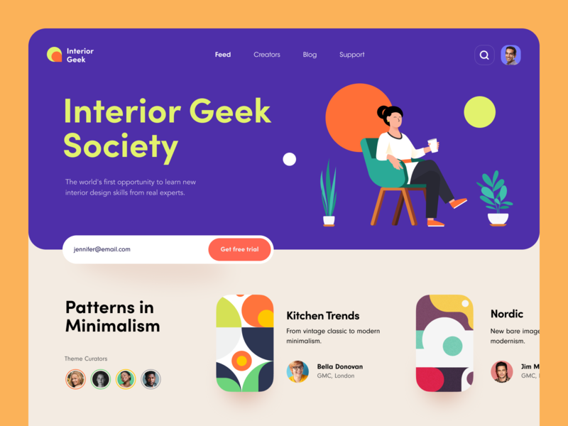 Interior Geek Society interior graphic furniture design decoration catalogue blog android aesthetics product web ux ui startup service website interface