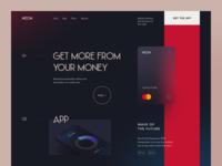 Neon Bank Website fintech saving cashback economy modern modern banking bank online banking banking service financial money banking product web ux ui startup service website interface
