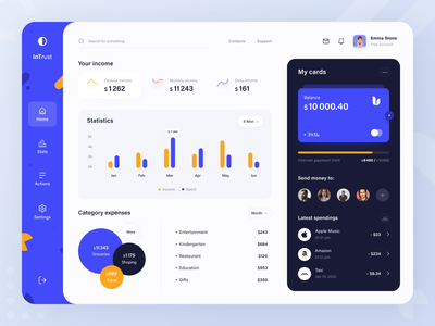InTrust Banking fintech saving cashback economy modern modern banking bank online banking banking service financial money banking product web ux ui startup service website interface