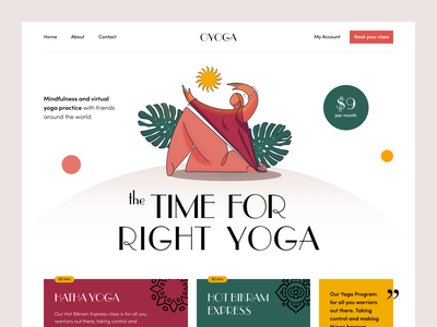 Oyoga Website community teaching training health yoga fitness product web ux ui startup service website interface