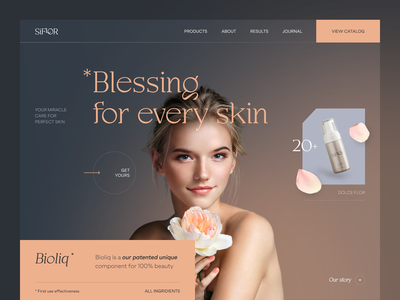 Siflor Website product web ux ui startup service website interface