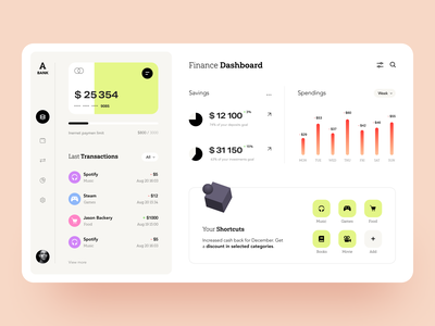 A-bank Dashboard product web ux ui startup service website interface