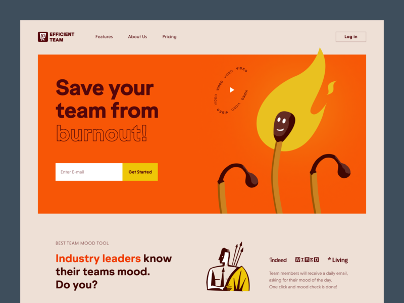 Efficient Team Website product web ux ui startup service website interface