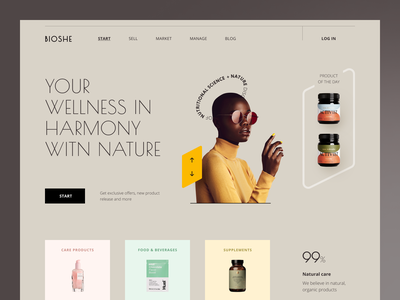 Bioshe Website interface product web ux ui startup service website