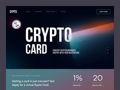 Gypto Website product web ux ui startup service website interface