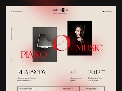 Rhapsody Website product web ux ui startup service website interface