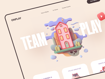 Toplay Website product web ux ui startup service website interface
