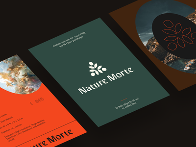 Nature Morte Gallery Website interface product web ux ui startup service website