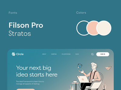 Circle Website product web ux ui startup service website interface