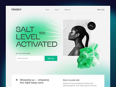 Fensea Website interface product web ux ui startup service website