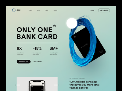 One Banking Website product web ux ui startup service website interface