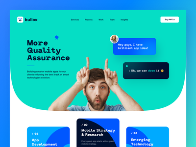 Bullox Website interface product web ux ui startup service website