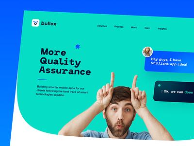 Bullox Website interface product web ux ui startup service website