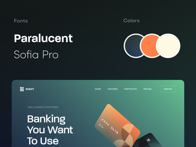 Sight Banking Website product web ux ui startup service website interface