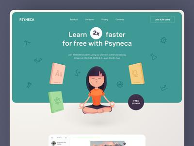 Psyneca Website interface product web ux ui startup service website