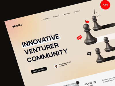 Bravez Website product web ux ui startup service website interface