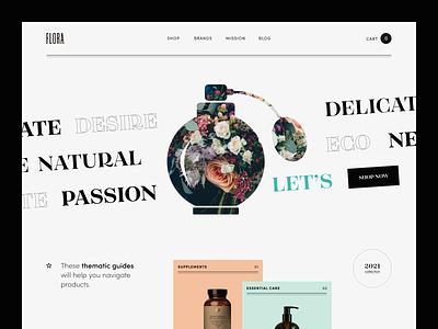 Flora Website product web ux ui startup service website interface