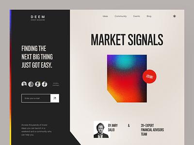 Deem Website interface product web ux ui startup service website