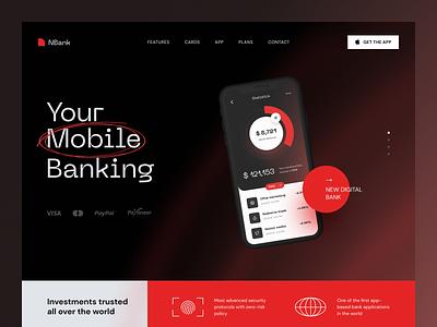 NBank Banking Website product web ux ui startup service website interface