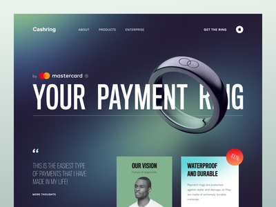 Cashring Website product web ux ui startup service website interface