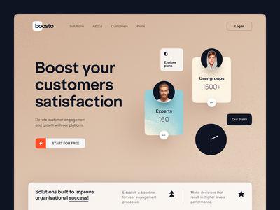Boosto Website product web ux ui startup service website interface