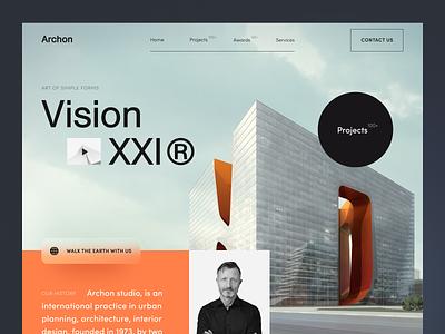 Archon Website product web ux ui startup service website interface