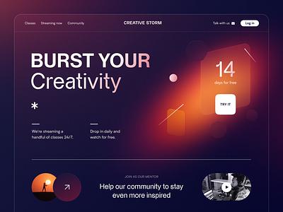 Creative Storm Website product web ux ui startup service website interface