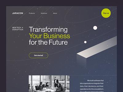 Jaracon Website product web ux ui startup service website interface