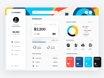Fundbatch Dashboard product web ux ui startup service website interface