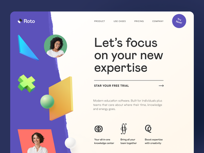 Roto Website product web ux ui startup service website interface