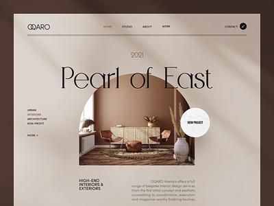 Oqaro Website product web ux ui startup service website interface