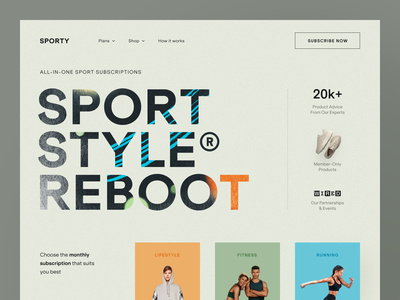 Sporty Website product web ux ui startup service website interface