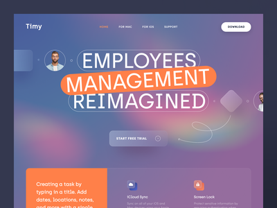 Timy Website product web ux ui startup service website interface