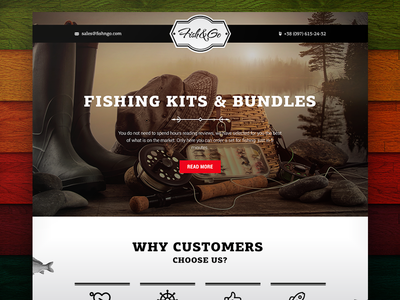Fish&Go Landing page