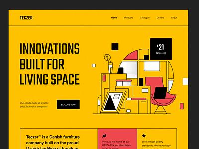 Teczer Website product design service interface ux web ui startup website