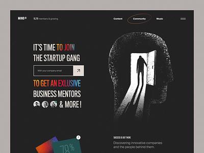 Mind® Website product design service interface ux web ui startup website