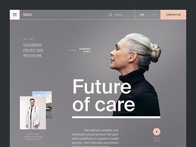 NAO Website product design service interface ux ui startup website