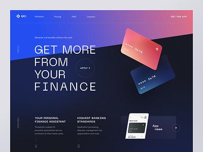MoBank Website product service design interface ui ux startup website