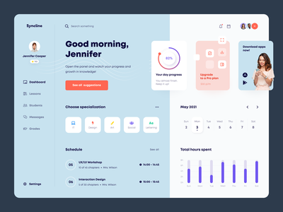 Syncline Dashboard product design service interface web ux ui startup website
