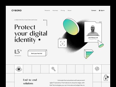 Cyboro Website product service interface web ux ui startup website