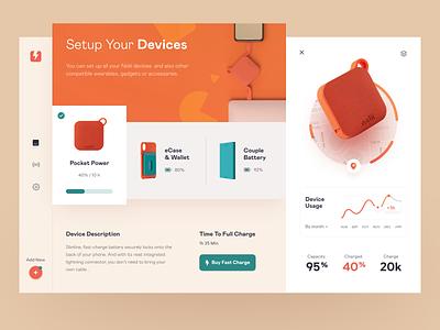 Smart Gadgets Dashboard product design service interface ui ux startup website