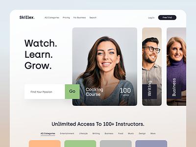 Skillex Website product design service interface web ux ui startup website
