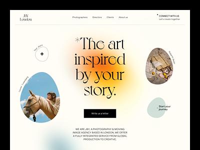 JBY Website product design service interface web ux ui startup website