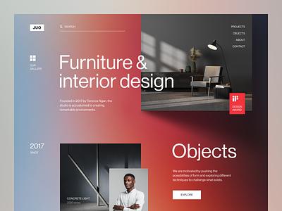 JUO Website product design service interface web ux ui startup website