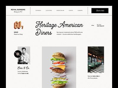 Royal Burgers Website product design service interface web ui ux startup website