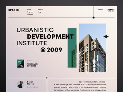 Spaces Website product design service interface web ui ux startup website
