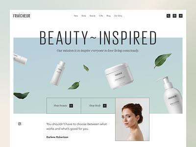 Fraîcheur Website product design service interface web ui ux startup website
